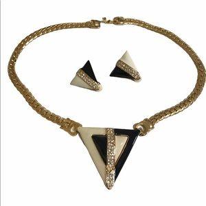 💥Like New! FUN Fashion Jewelry Set-clip earrings